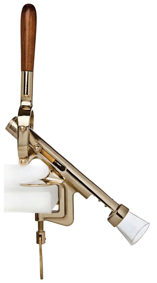 Dion Uncorking Machine, Counter Mount, Brass Plated
