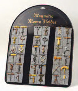 Magnetic Backboard Counter-Top Display for Antique Corkscrew Magnets