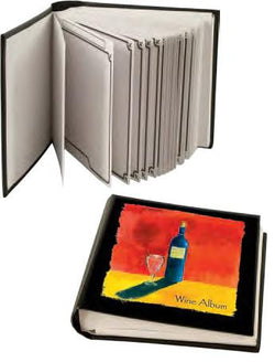 Deluxe Wine Album with 30 Label Removers