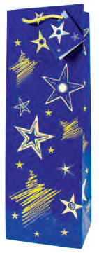 Night Sky  Paper Wine Bag
