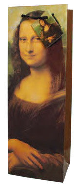 Mona Lisa  Paper Wine Bag