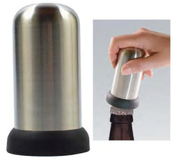 Cap-Popper Bottle Opener, Stainless Steel