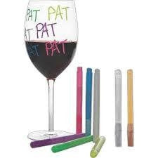 Neon Wine Glass Markers, Set of 2 (Gold & Silver)