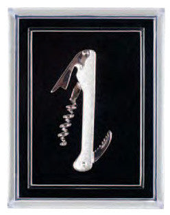 Waiter's Corkscrew Pin, Silver Plated