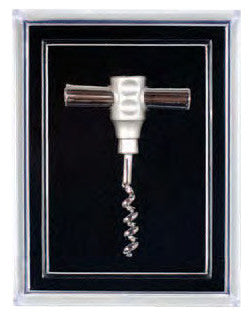 Pocket Corkscrew Pin, Silver Plated