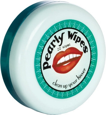Pearly Wipes, Mirror Compact with 20 peppermint Disposable Wipes