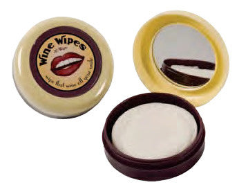 Wine Wipes, Mirror Compact with 20 Wipes
