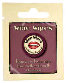 Wine Wipes, Single Pak (minimum of 12 per order)