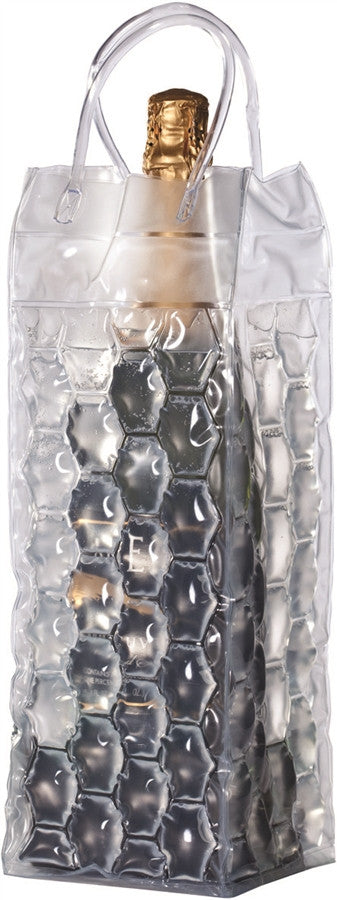 VinoChil Champagne Bottle Bag-Clear (4 Bubble Sided)