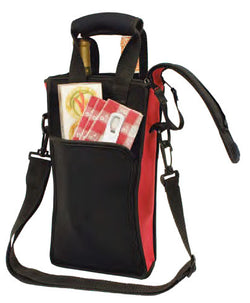 Picnic Neoprene Two-Bottle Tote Bag with Traveler's Corkscrew