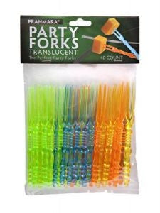 Party Forks, Translucent 40 Count
