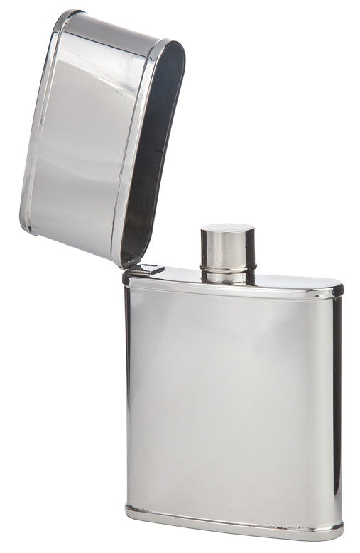 Flip-Top Mini Pocket Flask, Stainless Steel, 2-1/2 oz.