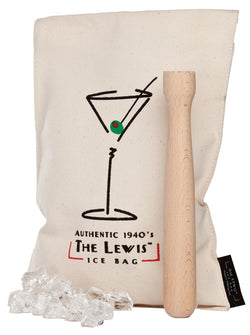 The Lewis Ice Bag with Beechwood Muddler