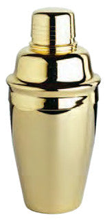 Tavern Cocktail Shaker Set, 8 oz. Gold Plated