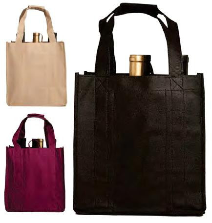 Vino Sack, Six-Bottle Bag Open Top (Velcro Handles)- 120 gsm