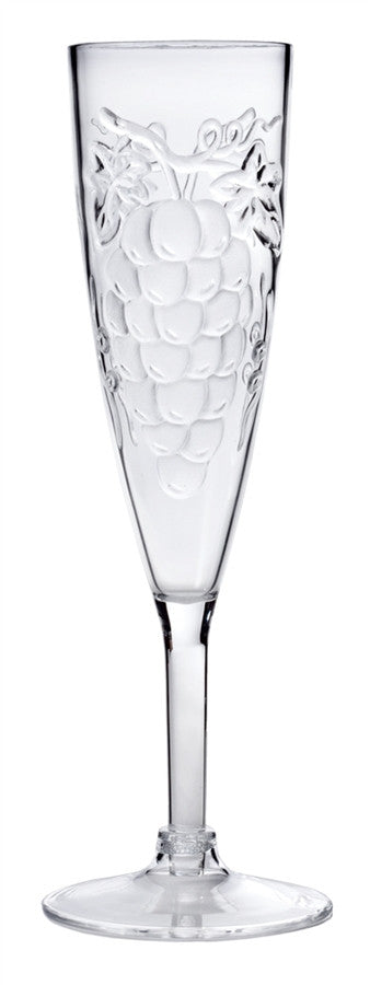 Grape Champagne Flute, Acrylic, 6 oz.
