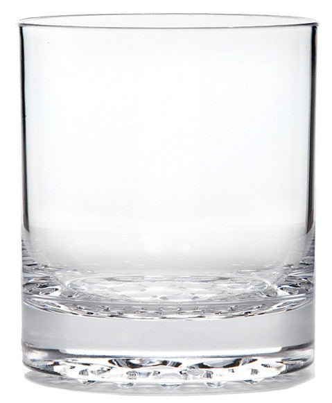 Old Fashioned Tumbler Droplet Base, Acrylic, 14 oz.