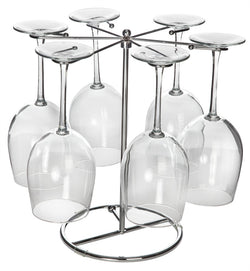 Six Wine Glass Drying Rack (4-color box)