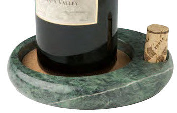 Sommelier's Wine Bottle Coaster, Green Marble
