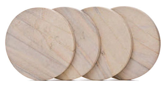 Sandstone Coasters, Natural Radiant, Set of 4