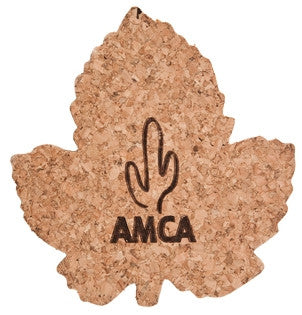 Cork Coaster, Grape Leaf shape (50 minimum)