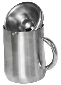 Personal Spittoon, Brushed Stainless Steel (Back ordered until mid April 2020)