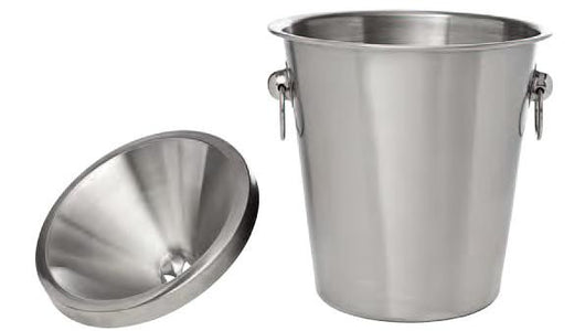 Wine Tasting Receptacle (Spittoon), 2 pieces, BRUSHED Stainless Steel