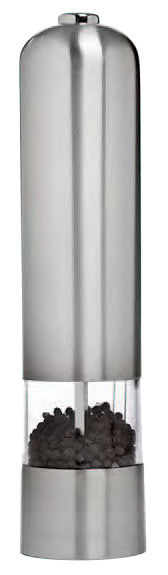 Grand Cuisine Electric Pepper/Salt Mill, Stainless Steel