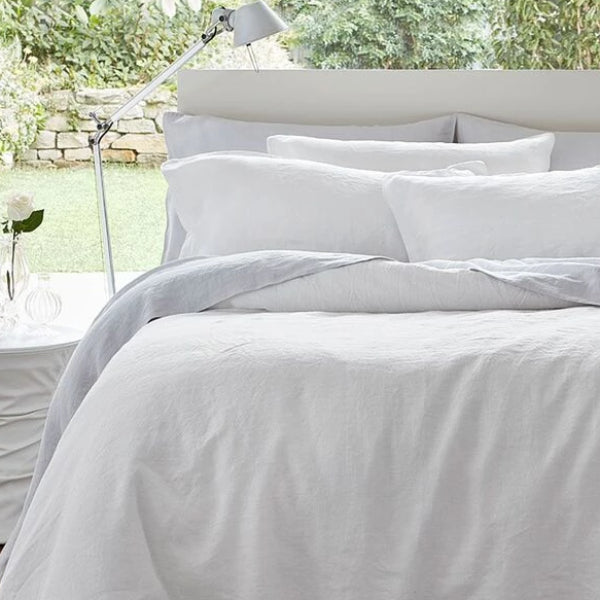 Linen Duvet Cover Set, White