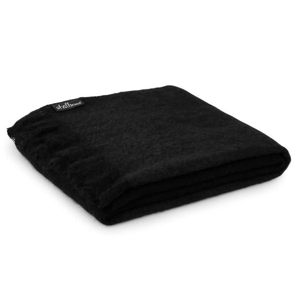 Mohair Throw, Black