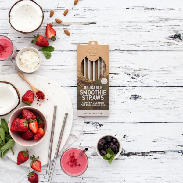 Caliwoods Reusable Smoothie Straws