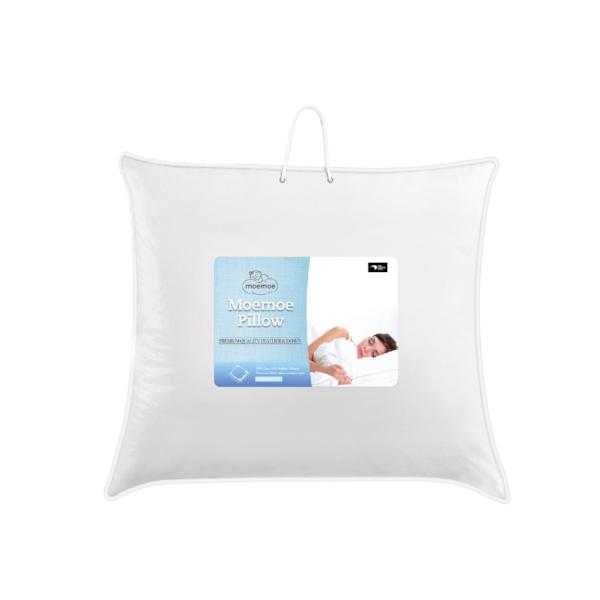 Moemoe NZ Made Feather & Down Pillow, Euro