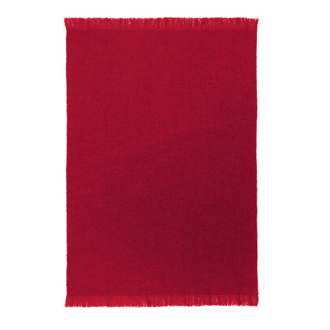 St Albans Mohair Throw, Mulberry