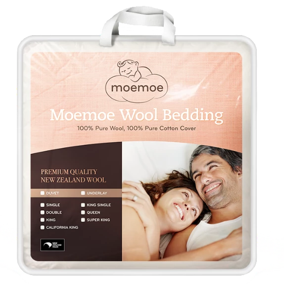 Moemoe NZ Made Wool Mattress Topper