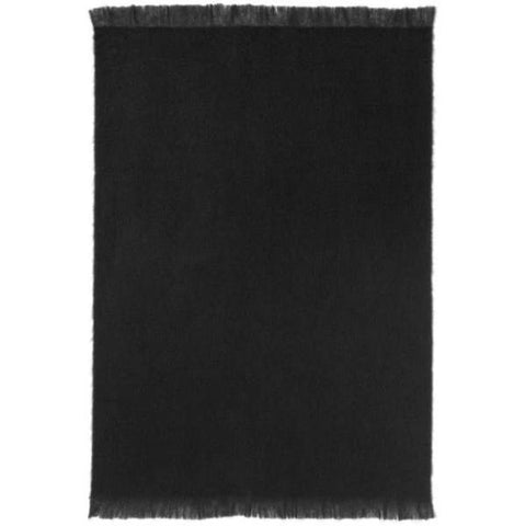 St Albans Mohair Throw, Black