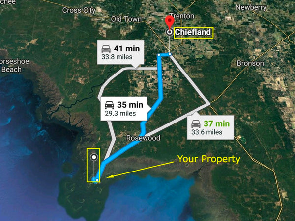 This is Paradise! .14 Acre Corner Lot on Cedar Key