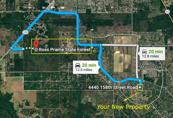 Pristine .23 Acre Resdnl Lot in Exclusive Community of Marion Oaks-Owner Finance