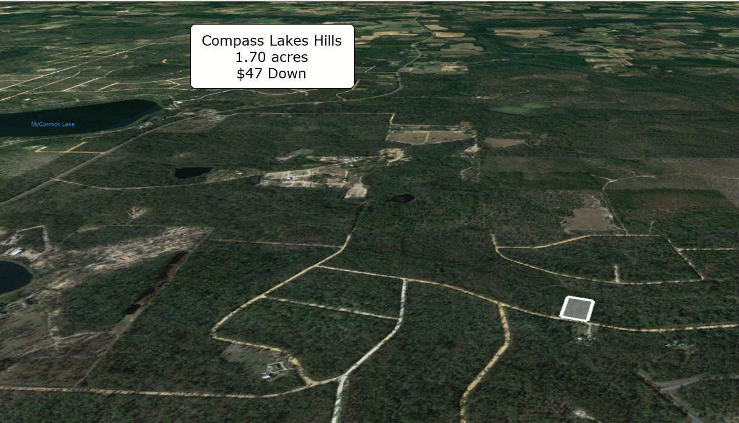 Invest or Build! Huge 1.70 Acre Compass Lakes Hills Lot-Owner Finance