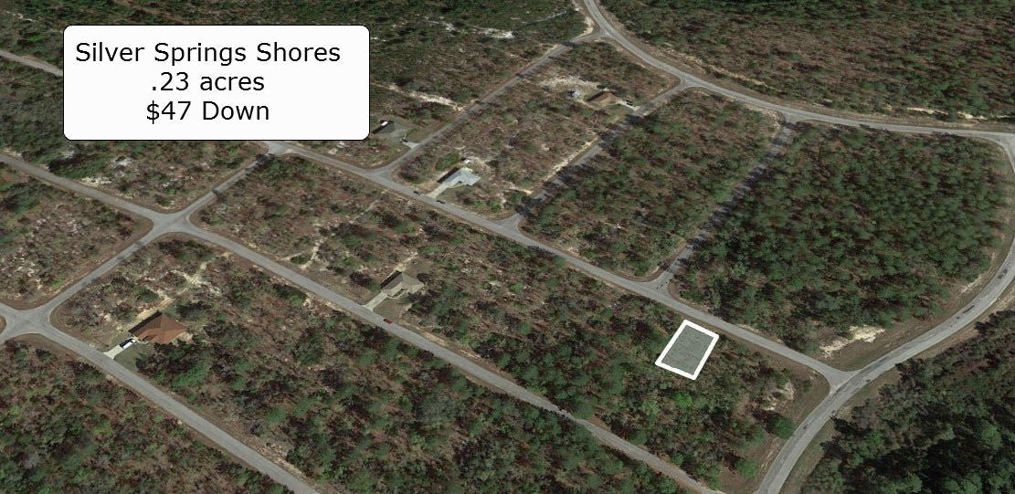 Partially Cleared .23 acre lot on Paved Road in Silver Springs Shores