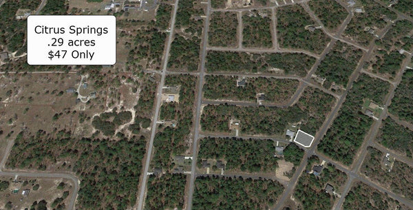 .29 acre Corner lot on Paved Road Near Citrus Springs Golf Club