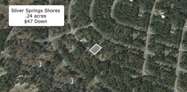 Partially Cleared .24 acre lot on Paved Road-Surrounded by Lakes