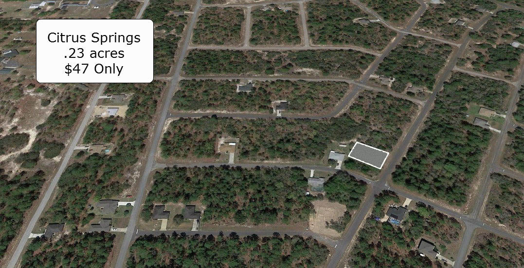 Pristine .23 acre lot minutes to Citrus Springs Golf and Country Club