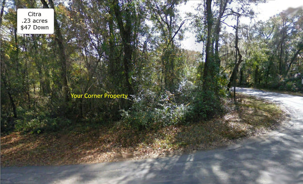 .23 Acre Unique Residential Side by Side Corner Lot at Citra