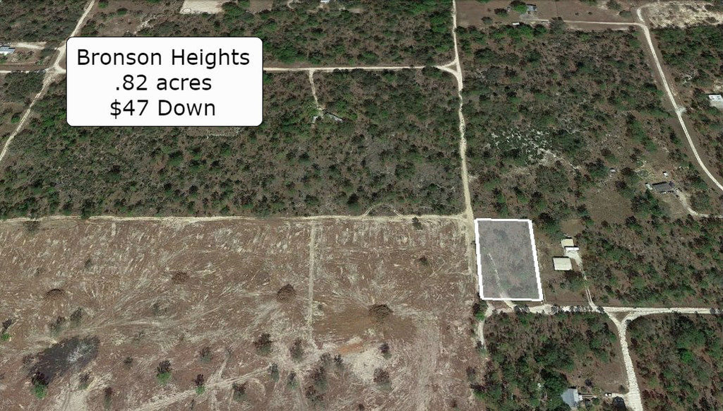 Oversized .82 Acre Corner Residential Lot in Bronson Heights -Owner Finance