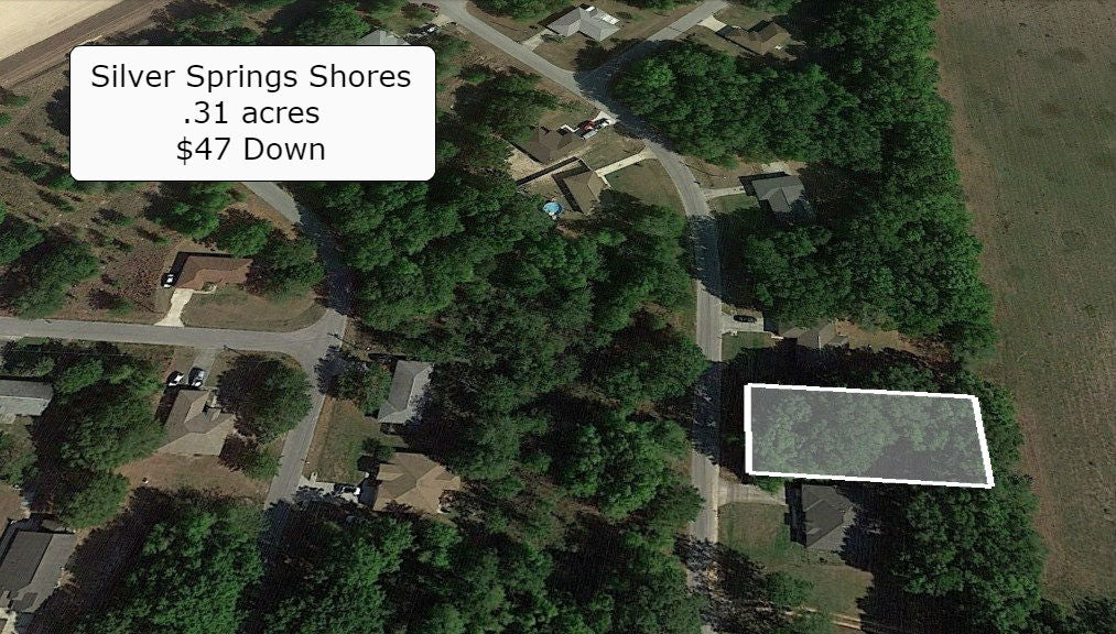 Beautiful .31 Acre Lot On Paved Road in Silver Spring Shores -Owner Finance