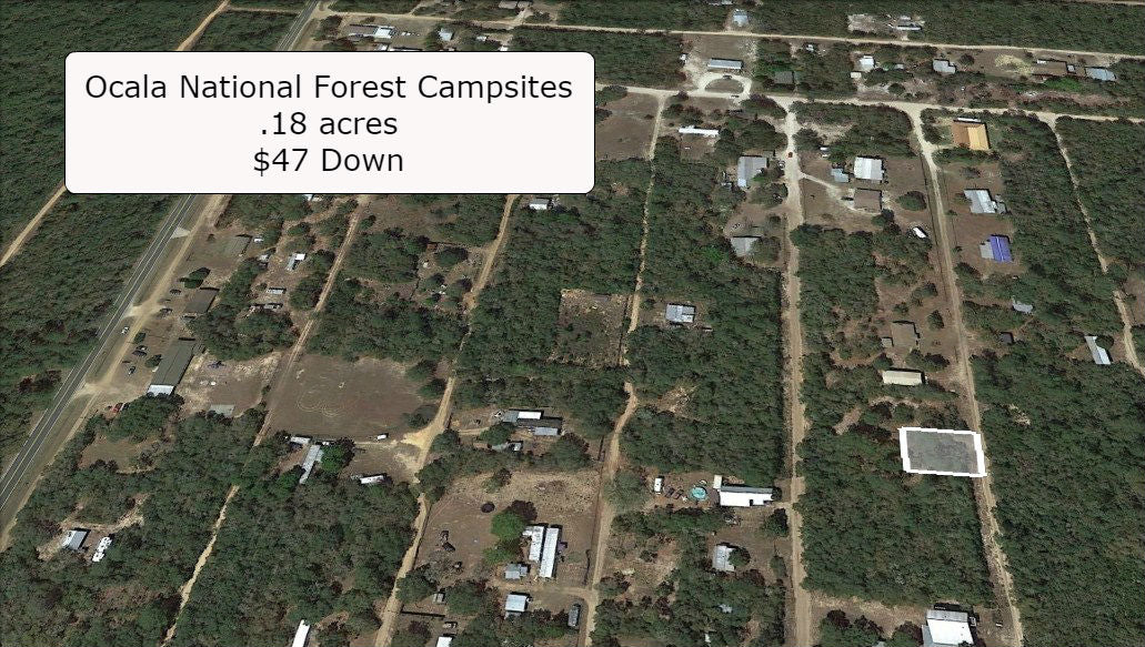 .18 Acre Mobile Friendly Lot Walking Distance to Lake Ocklawaha- Owner Finance