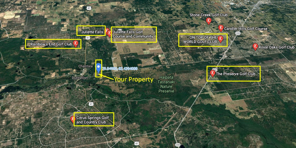 .21 acre corner lot Near Downtown Dunnellon and Rainbow Springs Estate Park