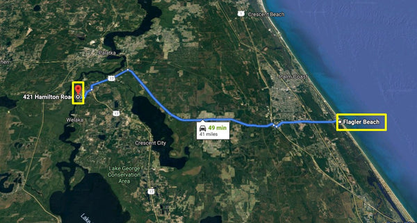 Oversized .44 Acre Waterfront Lot Walking Distance to St Johns River