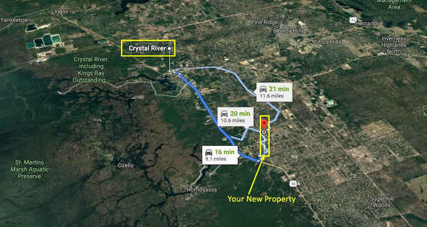 Invest or Build! .95 acre lot on Paved Road Minutes to Crystal River