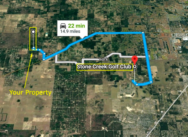 Great Deal for .25 acre Lot Minutes to HWY 40 Near Ocala -Owner Finance